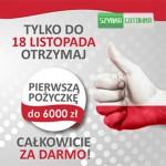 Pierwsza pożyczka do 6000 zł