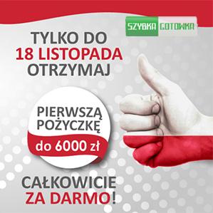 Pierwsza pożyczka do 6000 zł za darmo – tylko do 18 Listopada!