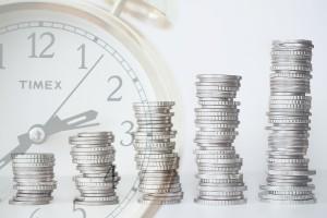 Pieniądze z zegarem