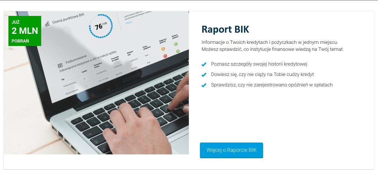 Krok 1 Raportu BIK